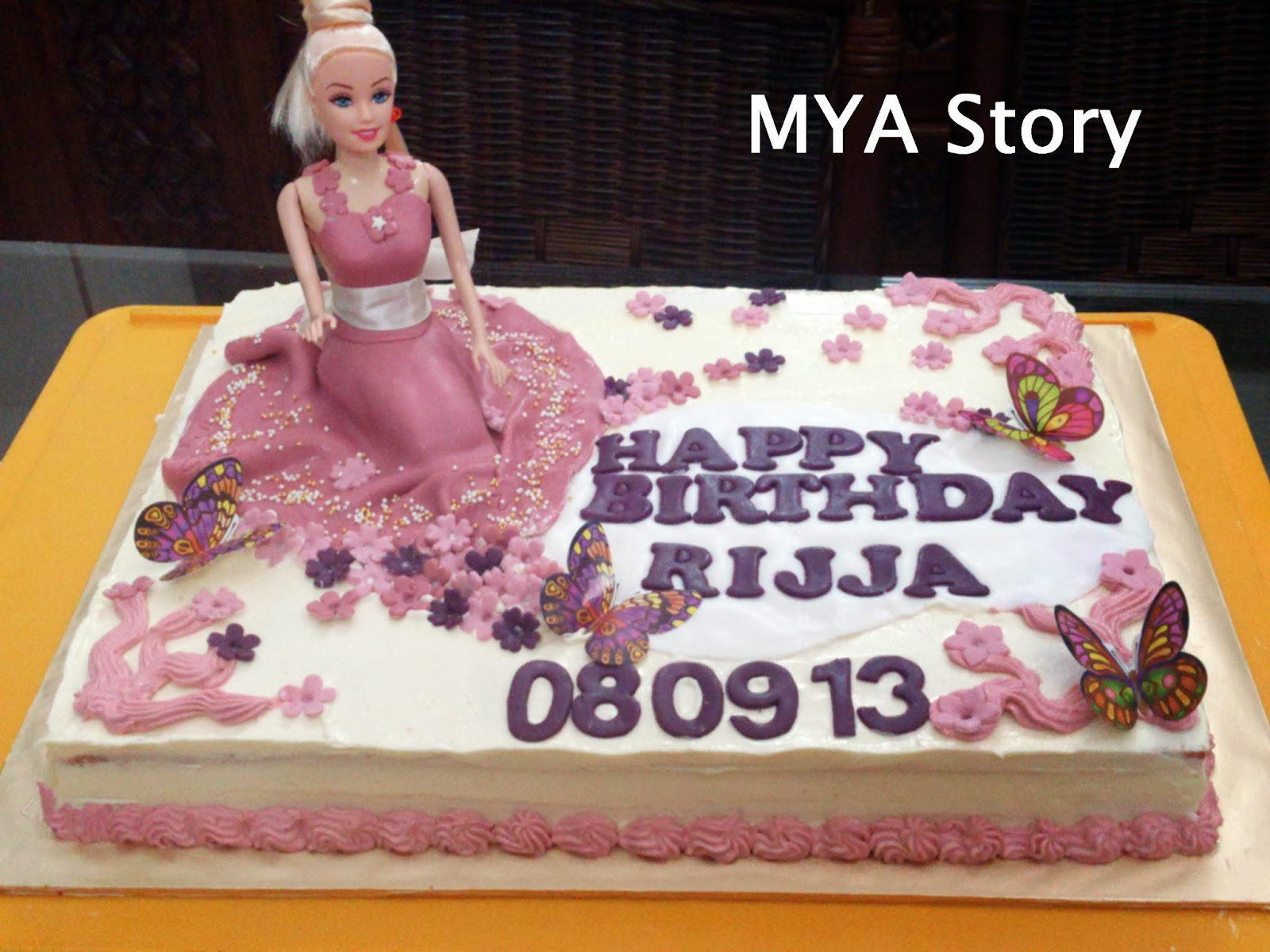 Remarkable Mya Scrap Book Princess Doll Birthday Cake For Lil Rijja Birthday Cards Printable Riciscafe Filternl