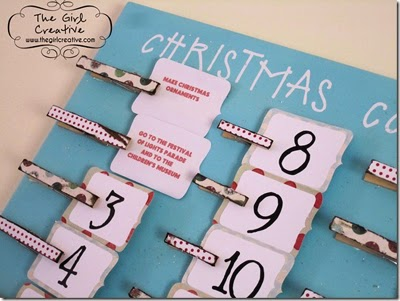 Cute countdown to Christmas board that's easy to make