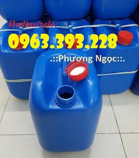 Can nhựa 10 lít, can nhựa vuông đựng hóa chất, can nhựa có núm 984d2a77be4e5810015f