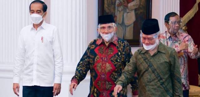 Gak Kira-kira, Amien Rais Temui Jokowi Ingatkan Ancaman Neraka Jahanam