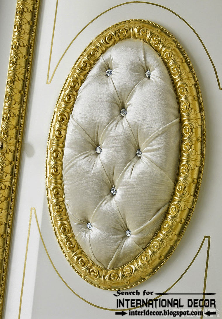 luxury interior doors for classic interior, luxury Italian Upholstery door designs 2015