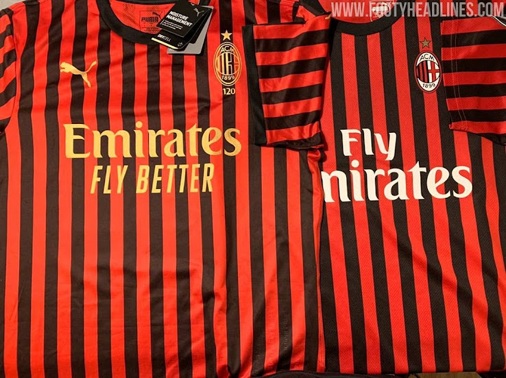 AC Milan 120th Anniversary PUMA Kit FOOTBALL FASHION.ORG