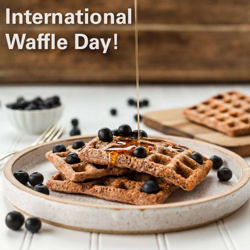 International Waffle Day Wishes Awesome Images, Pictures, Photos, Wallpapers