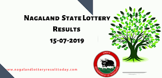 Nagaland State Lottery today 15-07-2019