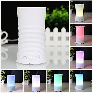 Deckey Aroma Diffuser Ultrasonic Humidifier Essential Oil Two Modes of Cool Mist 7 Color Changing Auto Off For Home, Office