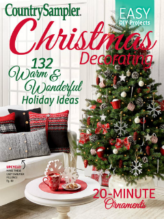Christmas Curb Appeal Country Sampler Christmas Decorating 2017 Feature