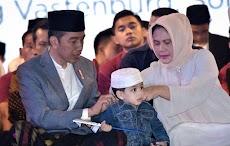 Jan Ethes, Cucu Pertama Jokowi Turut Hadir di Peringatan Hari Santri