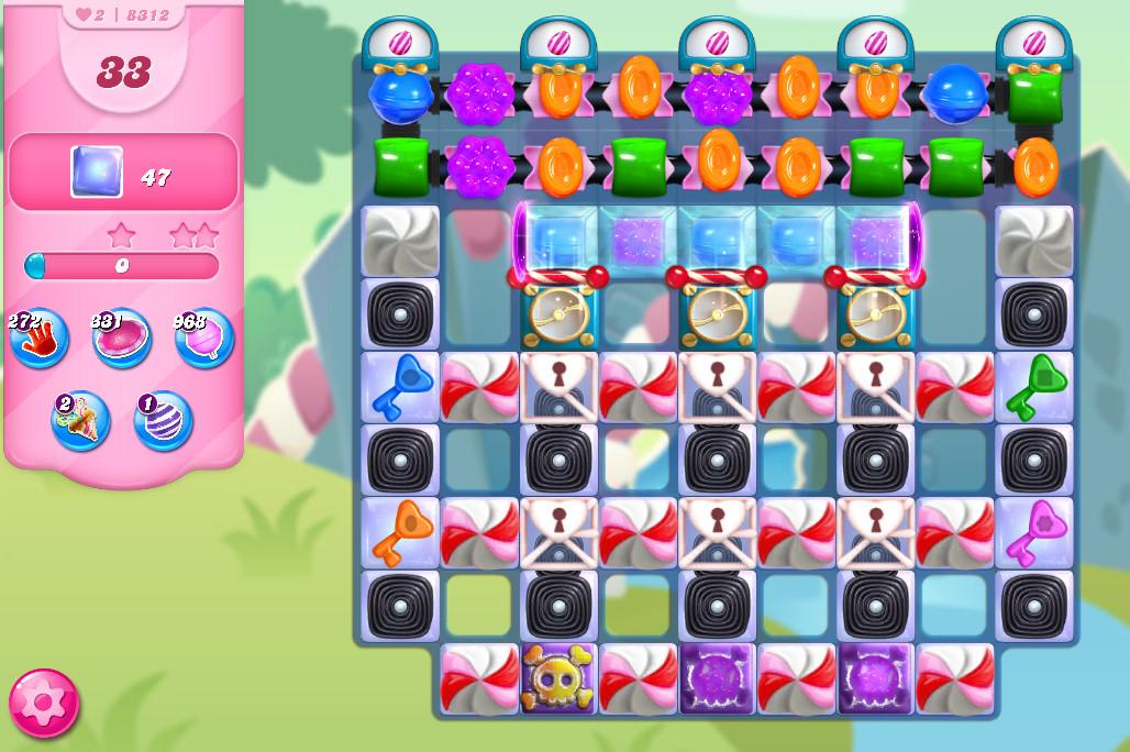 Candy Crush Saga level 8312