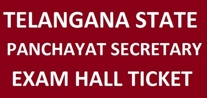 TS Panchayat Secretary Hall Ticket 2018