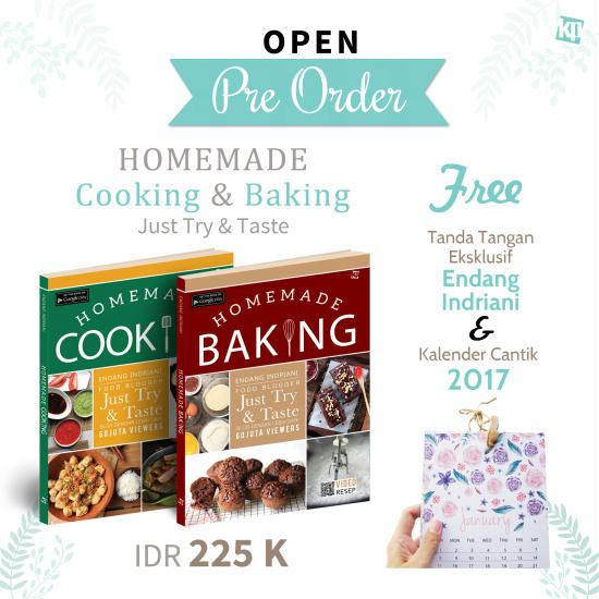 Pemesanan Buku Homemade Baking & Homemade Cooking (Buku Just Try & Taste)