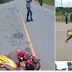 THIS SO SHOCKING!! See Woman Knocked Down And Crushed To Death While Crossing An Expressway. (Graphic Photos)