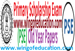 Primary Scholarship Exam (PSE) Old Paper For Std-6 Students
