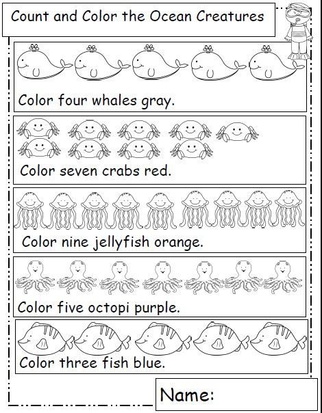 O is for Ocean Animals -- Letter O Printables