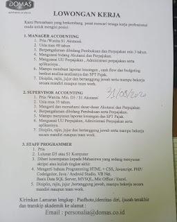 3 Lowongan di PT Dutamulti Intioptic Pratama (Domas)