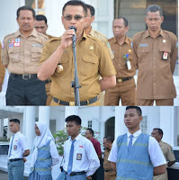 Peserta Paskibraka tingkat Provinsi dan Nasional, Dilepas Wakil Walikota Bima