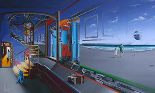 paisajes-urbanos-pintados-estilo-surrealismo surrealistas-cuadros-paisajes-urbanos