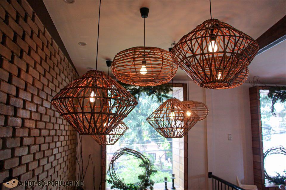 Fancy rattan lamps in La Collina Second Floor, Makati