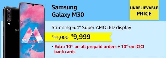 samsung galaxy m30 amazon offer today