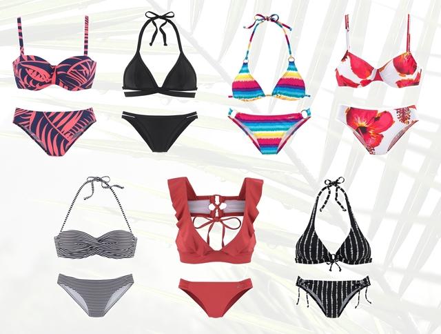 shop tip bikini inspiratie 2019 trends lascana gestreept bloemenprint tie dye zwart retro mode blog