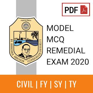 BATU Remedial MCQ in PDF for Civil