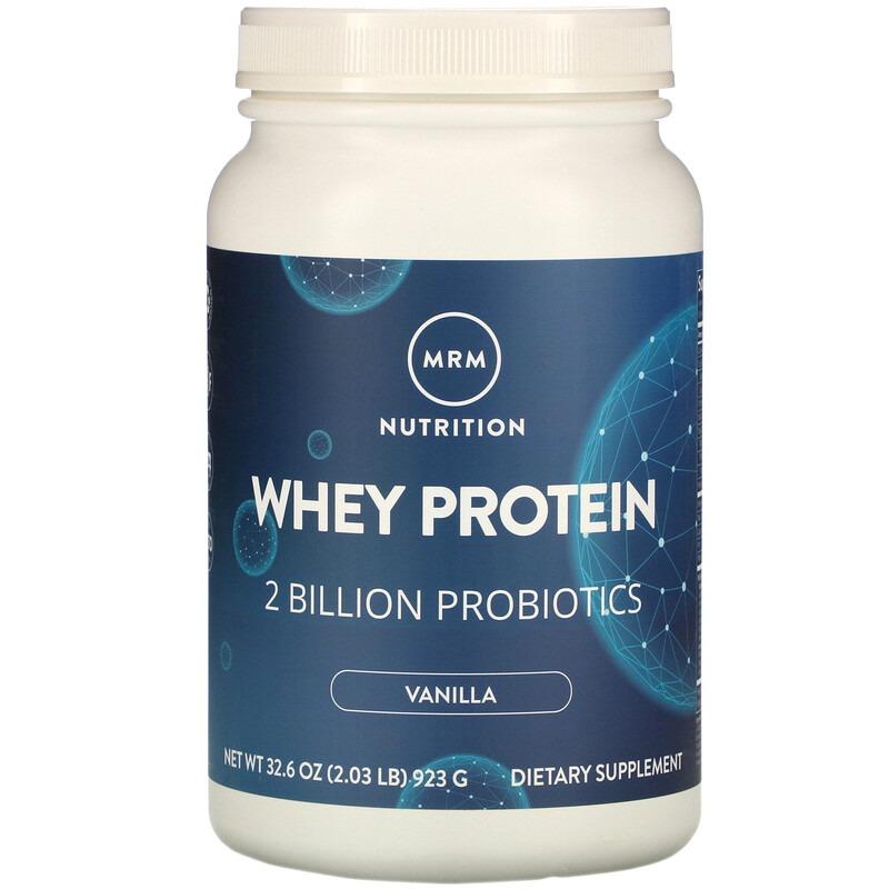 MRM, Whey Protein, 2 Billion Probiotics, Vanilla, 2.03 lb (923 g)