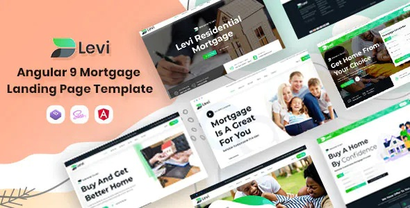 Best Angular Mortgage Landing Page Template