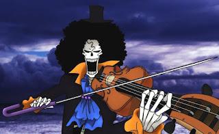 """biodata """"Soul King"""" Brook, biodata brook, umur brook, tanggal lahir brook, tinggi brook, pemusik bajak laut topi jerami, brook pendekar pedang, brook hd, brook one piece"""