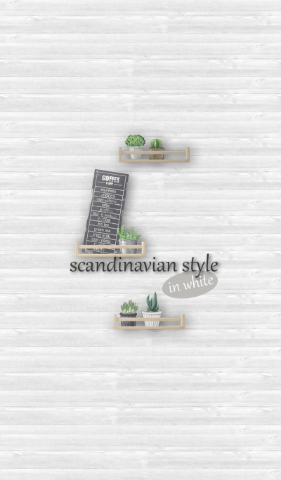 Scandinavian style in white