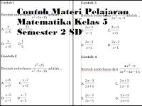 Contoh Materi Pelajaran Matematika Kelas 5 Semester 2 SD