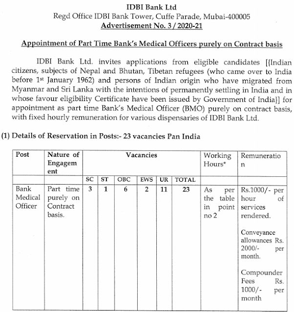 IDBI BMO form 2021