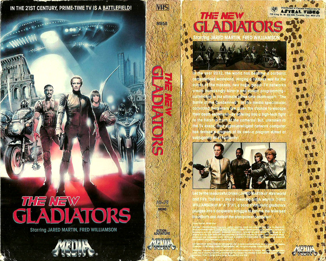 VHSplatter: VHS Index: The New Gladiators (Media Home Entertainment)