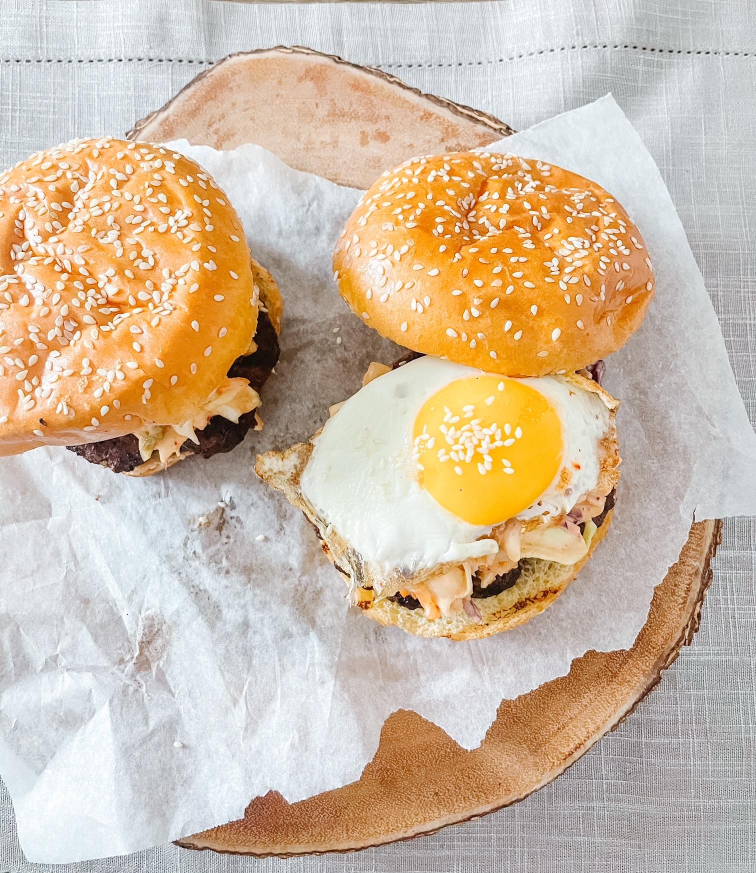 Fiery Bulgogi Kimchi Burger