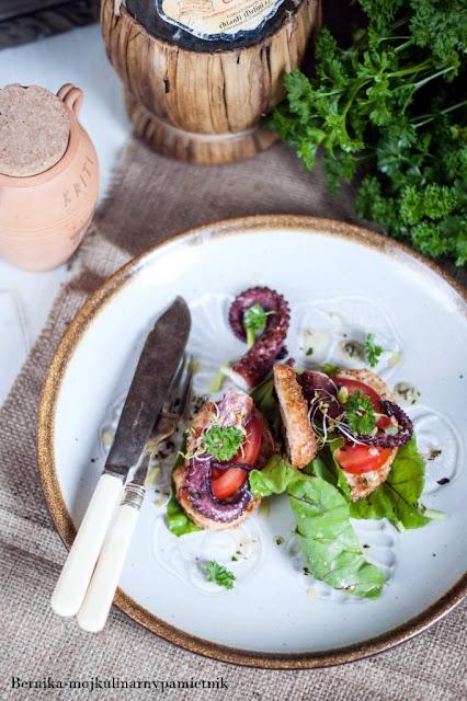 osmiornica, grill, przekaska, lato, owoce morza, bernika, kulinarny pamietnik