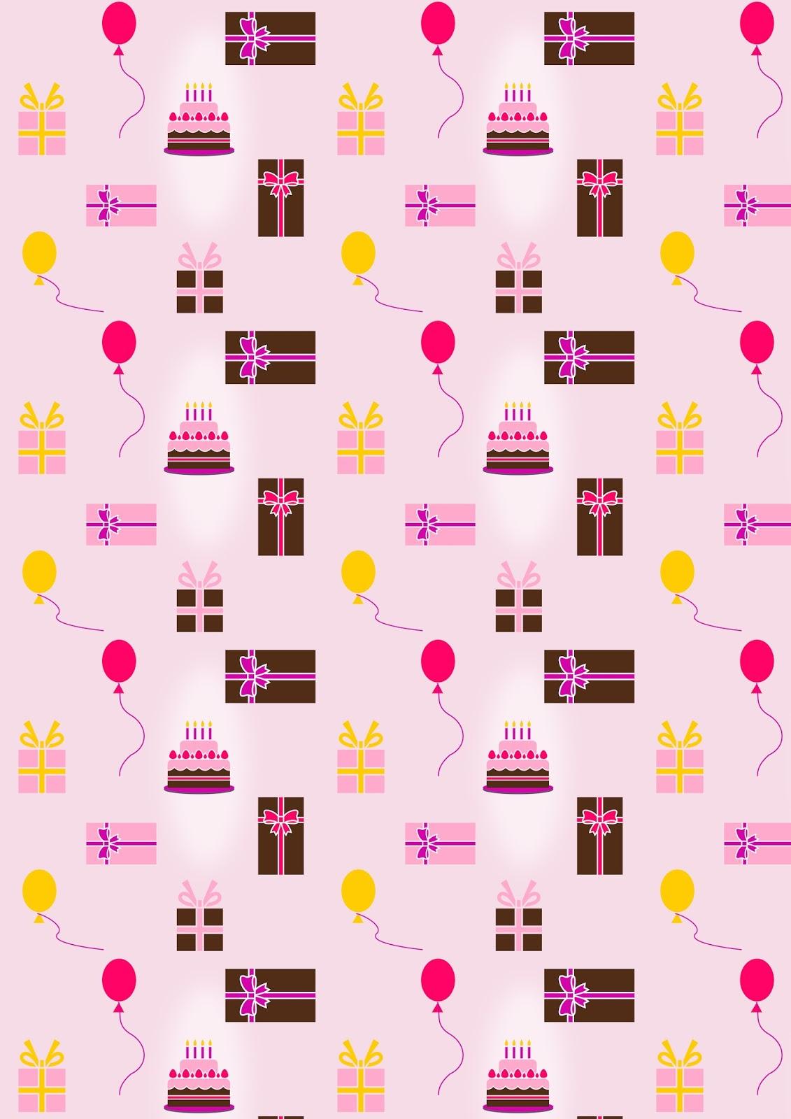 Free Digital Birthday Scrapbooking Paper Ausdruckbares