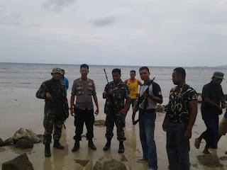 Tim Gabungan TNI Polri di Sape Amankan BB Hasil Buruan Ilegal dan Senpi