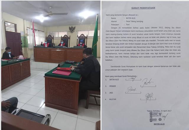 Terdakwa Lambau Kasus Pemalsuan Surat Tanah Bonar Sitinjak Dituntut 1 Tahun Penjara Oleh JPU
