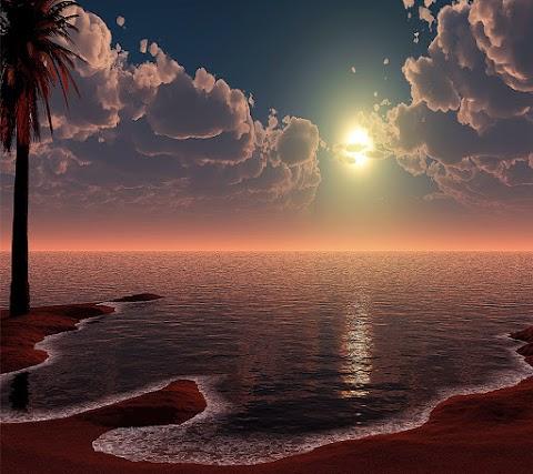 Hình Nền Điện Thoại Thiên Nhiên Sớm Mai Trên Biển