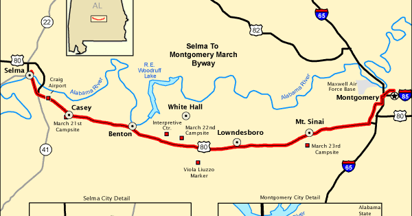 Map of the Week: The Selma March Byway