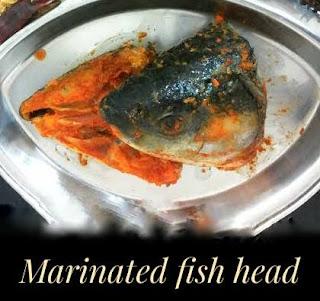 Marinated fish head