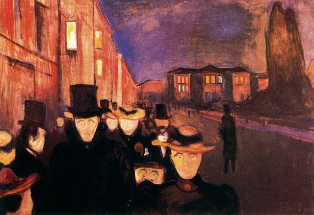 Эдвард Мунк - Вечер на улице Карла Иоанна. 1892