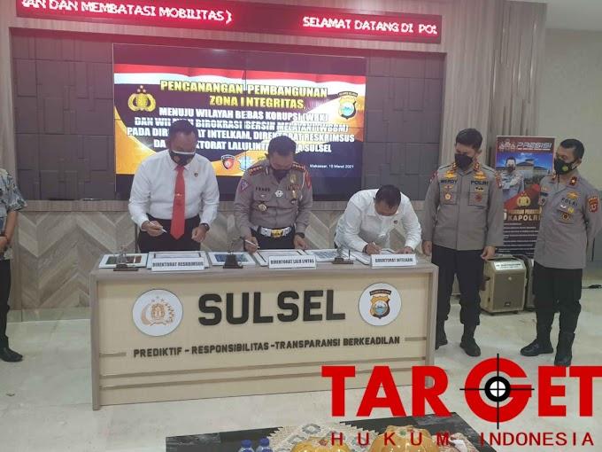 Dit Intelkam Polda Sulsel Gelar Pencanangan Pembangunan Zona Integritas menuju Wilayah Bebas Korupsi (WBK) dan Wilayah Birokrasi Bersih Melayani (WBBM)