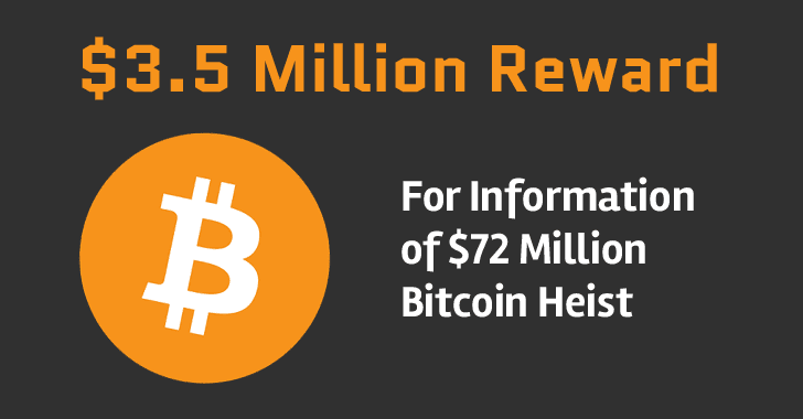 Bitcoin Exchange Offers $3.5 Million Reward for Information of Stolen Bitcoins
