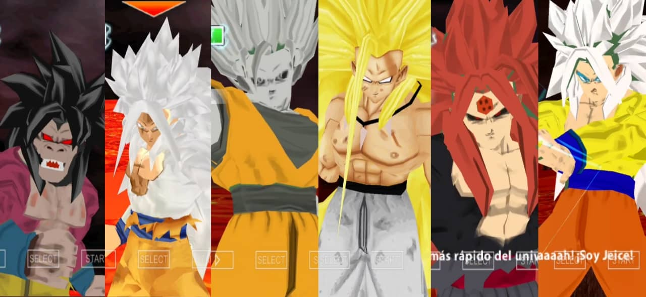 Dragon Ball AF Goku all forms Transformations
