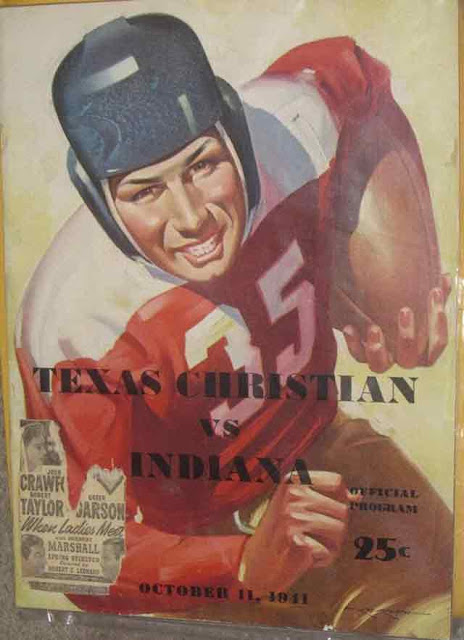 Texas Christian vs. Indiana football program, 11 October 1941 worldwartwo.filminspector.com