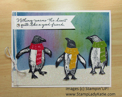 Winter Card made with Stampin'UP!'s Playful Penguin Stamp Set