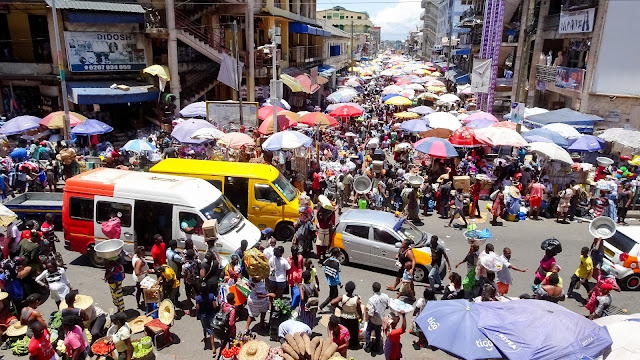 Everyday its busy at the heartbeat market of Accra