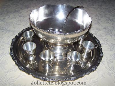 Helen Killeen Parker silver punch bowl set https://jollettetc.blogspot.com