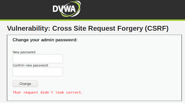 CSRF (Cross-site Request Forgery) in DVWA ( Medium)
