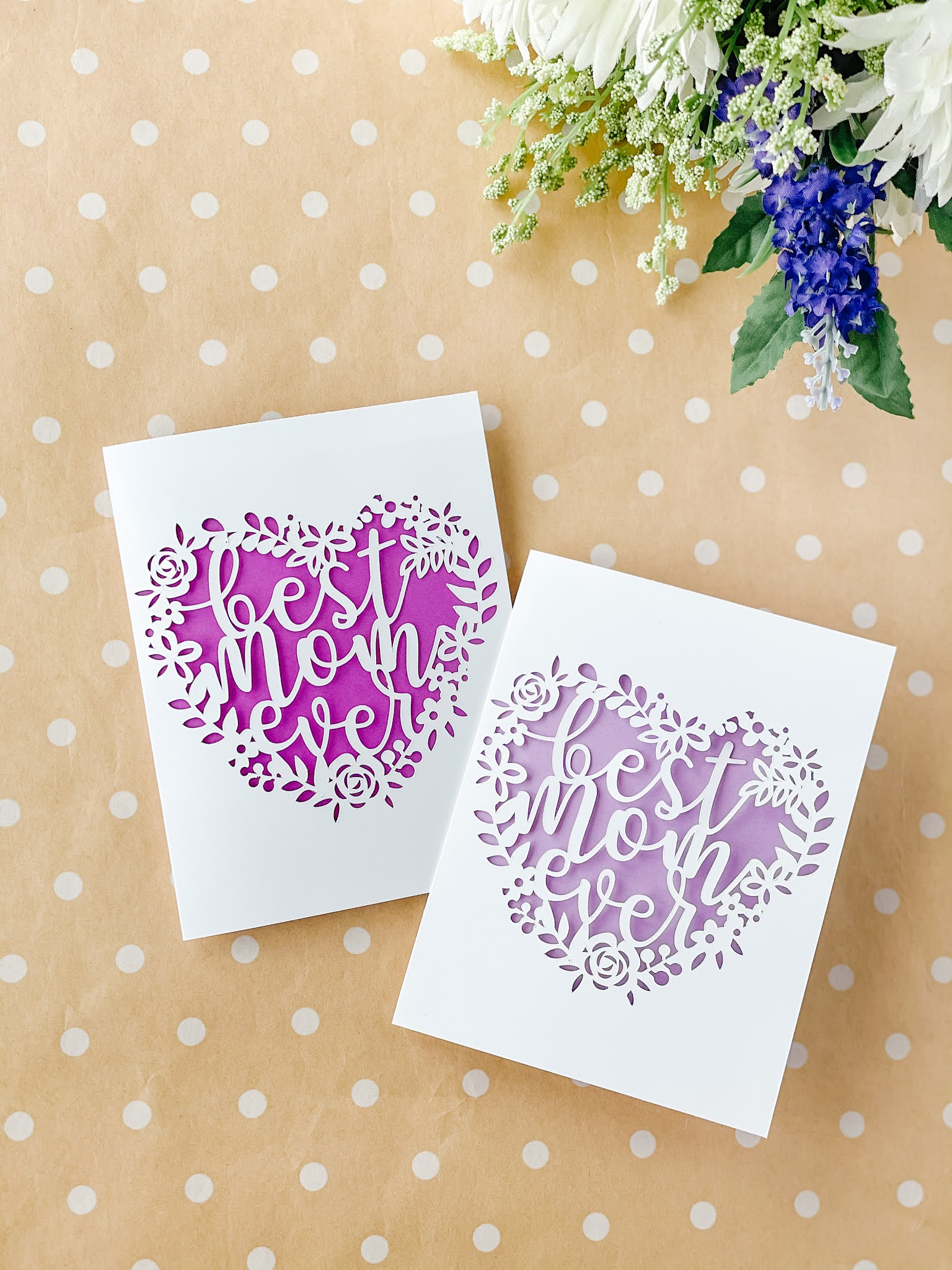 Make Your Own Best Mom Ever Paper Cut Mother's Day Card