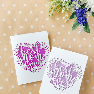 Best Mom Ever Papercut mothers day card